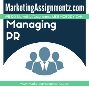 Managing PR Assignment Help