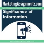 Significance of Information in Marketing