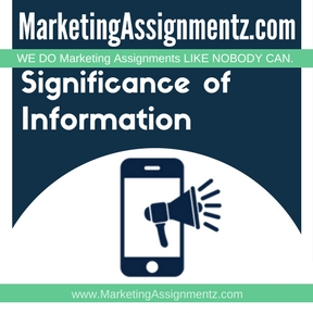Significance of Information in Marketing Assignment Help
