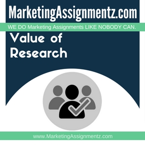 Value of Market Research Assignment Help